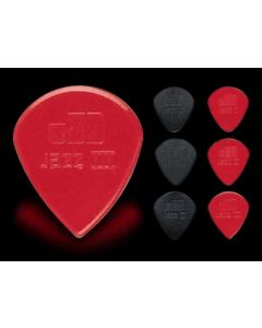 Медиатор Jim Dunlop Nylon Jazz Plectra 2 N1.18mm red (47R2N)