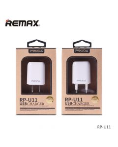 СЗУ 110-240V Remax Wall RP-U11, 1xUSB, 5V, 1A, White, Blister [8931]