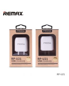 СЗУ 110-240V Remax Wall RP-U21, 2xUSB, 5V, 1+2.1A, White, Blister [8932]